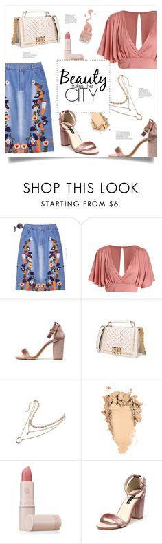 """Styling Embroidered Skirt"" by mahafromkailash ❤ liked on Polyvore featuring Lipstick Queen"