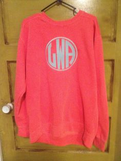 Monogrammed Comfort Colors Sweatshirts