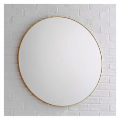 Stylish and sophisticated, the Patsy large round wall mirror's sturdy metal frame is crafted from aluminium and finished with a sleek, brushed gold edge. Buy now at Habitat UK. Hall Mirrors, Tall Wall Mirrors, Lighted Wall Mirror, Mirror With Lights, Large Round Wall Mirror, Wall Mirrors Horizontal, Round Mirrors, Mirror Above Fireplace, Contemporary Wall Mirrors