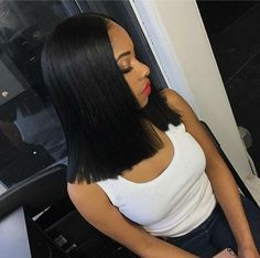 Ms Gloria Short Bob Lace Front Wigs Human Hair Straight Brazilian Virgin Natural Black Lace Wigs Pre Plucked Bleached Knots For Women whatsapp: 0086 17660680660 Weave Hairstyles, Straight Hairstyles, Girl Hairstyles, Fashion Hairstyles, Black Hairstyles, Blunt Cut Hairstyles, Long Bob Negras, Lace Front Wigs, Lace Wigs