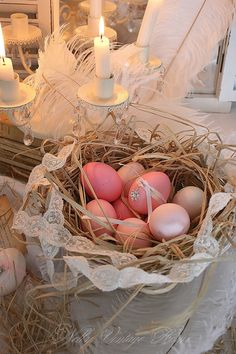 Nest of pink from Nelly Vintage Home