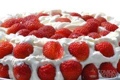 Receita de Bolo gelado de morango em receitas de bolos, veja essa e outras receitas aqui!