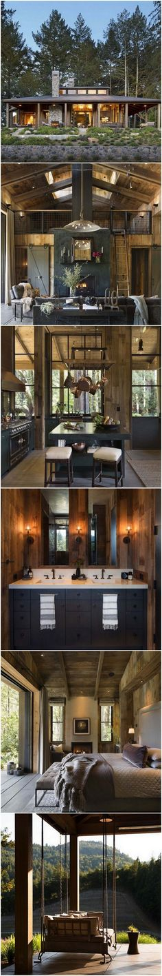 Farmhouse Style Cabin In Napa Valley - Architecture Love Cabin Homes, Log Homes, Tiny Homes, Architecture Design, Building Architecture, Cabins And Cottages, Small Cabins, Bungalows, House Goals