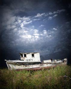 Abandoned Fishing Boat in Washington State by RandyNyhofPhotos, $12.00