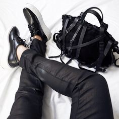 The Versa Style blogger Annette Tang Instagrammed our Coated Charlie Skinny Jeans in November 2014.  We love how they look with those shoes!