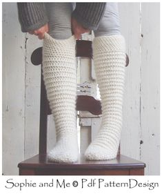 North Pole Socks. Extremely warm! Crochet, NOT knit!