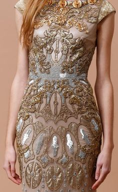 "a-luxury-fantasy: ""Badgley Mischka Pre-Fall 2014 "" Haute Couture Style, Couture Fashion, Runway Fashion, Fashion Details, Love Fashion, High Fashion, Fashion Design, Fashion 2014, Baroque Dress"