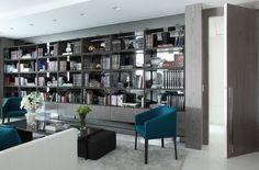 Apartamento com salas de estar, jantar e varanda com decoração branco, preto e cinza - lindas! - Decor Salteado - Blog de Decoração e Arquitetura