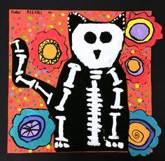 Paintbrush Rocket: 3rd Grade Day of the Dead Skelo-cats!