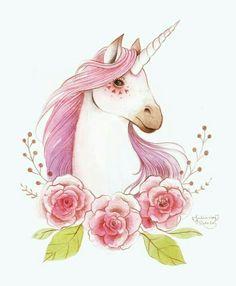 unicorn, white, pink, brown