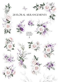 Floral Design bundle by Lisima on Watercolor Print, Watercolor Illustration, Watercolor Flowers, Graphic Illustration, Web Design Projects, Floral Drawing, Clip Art, Boho Baby Shower, Rustic Flowers