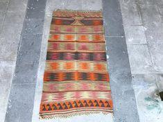 Super Fine Vintage Konya Anatolian Kilim Rug Distressed Kilim