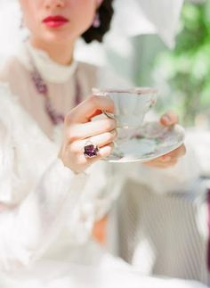 ...I am drinking my hot tea sweet with memories and listening to birds sing in the garden. ~ anon