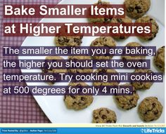 Baking Small Items at a Higher Temperature