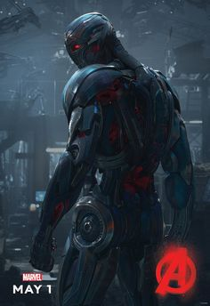 Ultron Broods On Latest AVENGERS: AGE OF ULTRON Poster
