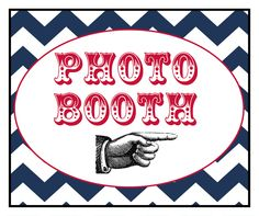 Photo Booth Props - Photo Booth Sign  - Red, White, and Blue - Photobooth Props. $8.00, via Etsy.