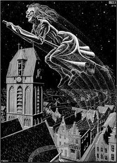 Scholastica Illustration - M.C. Escher