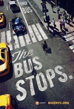 """A campanha """"Bike like a New Yorker"""", da empresa Mother New York, foi uma inciativa para voltar a atenção dos cidadãos aos ciclistas da cidade. De acordo com a agência, o projeto tem como principal objetivo ficar a frente do debate sobre o próximo programa do BikeNYC, em parceria com o Transportation Alternatives, distribuindo cartazes pelas ruas da cidades e anúncios em publicações com mensagens que apoiam o crescimento do """"bike movement""""."""