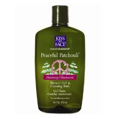 Kiss My Face: Bath & Shower Gel, Peaceful Patchouli 16 oz by Kiss My Face. $8.64. Peaceful Patchouli Moisture Bath...... The cold war is over.....it's time for a hot bath! We thought you'd enjoy this unique edition of our Moisture Baths. It came about because so many of our friends are either still, or just started, wearing Patchouli. It does truly evoke special feelings. So lay back in a warm bath, or for a radical departure from the humdrum, take a Patchouli shower...