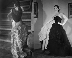 Balenciaga's muse and the resulting dress