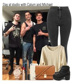 """""""Day at studio with Calum and Michael"""" by irish26-1 ❤ liked on Polyvore featuring Kate Spade, Forever 21, Nanda Home, Michael Kors, Chanel and Charlotte Tilbury"""