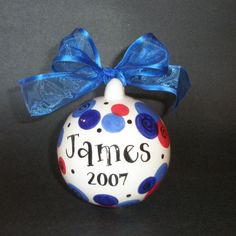 Personalized Christmas Ornament Hand Painted by CottageJoy