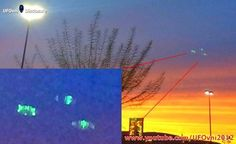 California: Strange green lights (UFOs) above Grapevine