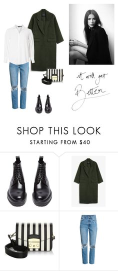 """""""18/10"""" by dorey on Polyvore featuring Yves Saint Laurent, Monki, Furla and Dorothy Perkins"""