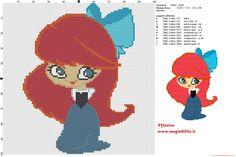 Chibi Ariel 2 cross stitch pattern