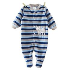 a02d5129fd9c Baby Boys Romper Girls Jumpsuit Kids Clothing Winter Newborn Animal Cartoon  Fleece Baby Body Suit Cartoon Long Sleeve Clothes-in Rompers from Mother    Kids ...