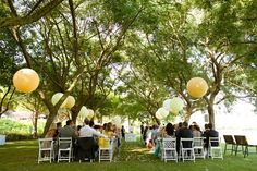 Giant balloons for ceremony decoration