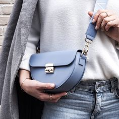 Our MAJAVIA Crossbody Bag in light blue. Thanks to for this shot. Spring Colors, Marc Jacobs, Chloe, Light Blue, Crossbody Bag, Leather, Bags, Wish List, Dime Bags
