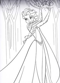 templates elsa colouring pictures coloring pages