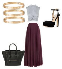 """Untitled #8"" by mgonzalez0004 on Polyvore featuring Halston Heritage, Topshop, CÉLINE, Cartier, Michael Kors, women's clothing, women, female, woman and misses"
