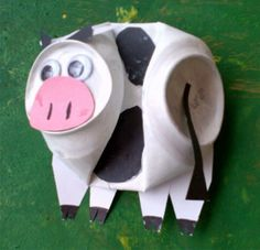 Cow made with a can / recycle