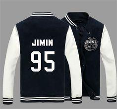KPOP BTS Bangtan Boys Jung Kook J-hope JIN Jimin V Suga Cotton Sweatshirts Outerwears unisex Baseball Coat Jacket - Animetee - 2