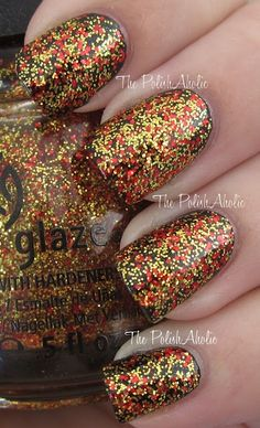 Hunger Games China Glaze Collection - Electrify.  This is on my toes right now :)
