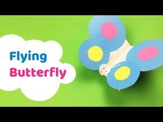 Easy to make FLYING BUTTERFLY paper craft for kids - YouTube