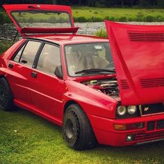 Lancia Delta HF Integrale EVO Red with black wheels