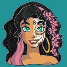 Esmeralda caveira mexicana
