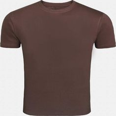 This coffee brown round necked, half-sleeved plain T-shirt gives a casual fit to you for all seasons. Wear this super-comfortable cotton T-shirt with denims and trousers or for a workout or even under a casual jacket.