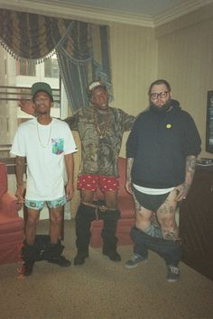Hodgy Beats, Left Brain, and some random guy exposing their boxers