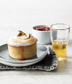 Australian Gourmet Traveller dessert recipe for little rhubarb meringue pies