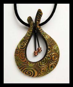 creative polymer clay bails by Helen Breil | Flickr - Photo Sharing!