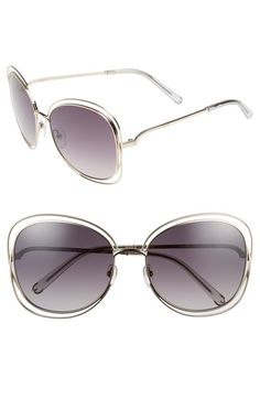 d531ec192ba3 Chloé  Carlina  60mm Oversize Sunglasses available at  Nordstrom Latest  Sunglasses