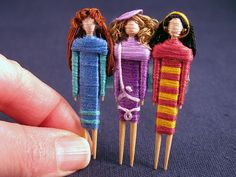 Toothpick dolls! previous pinner said: I LOVED making these as a child! - and i've never heard before ....
