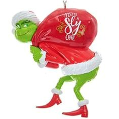Grinch Ornaments, Personalized Christmas Ornaments, Christmas Tree Ornaments, Christmas Ideas, Christmas Decorations, Christmas Porch, Tree Decorations, Le Grinch, Grinch Stole Christmas