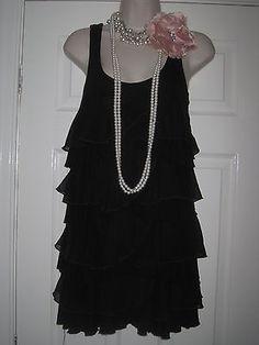 Robes ann es 20 noire droite ann e charleston pinterest blog et hauts - Robe charleston annee 20 ...