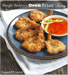 Oven Fried Shrimp Recipe (5 WW points) - iSave A2Z #easyrecipes #weightwatchersrecipe