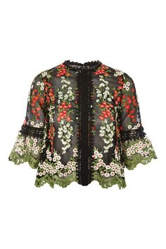 Botanical Lace Mesh Top - New In Fashion - New In - Topshop USA